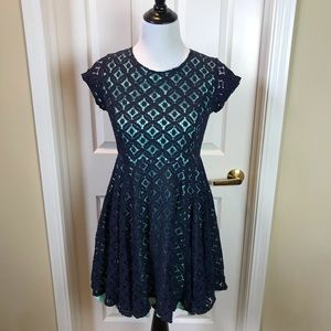 Maurice's | Fit & Flare Dress, Mint/Navy, 9/10